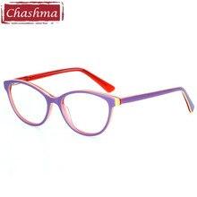 Chashma Brand Acetate Material Small Face Eyeglasses Trend Stylish Student Prescription Glasses Frame Kids Optical Eye