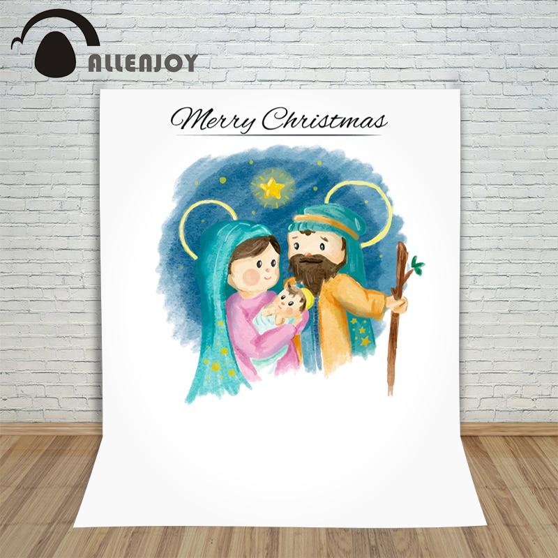 Allenjoy photography background Jesus was born Nativity cartoon Christian photocall background photography professional nativity story