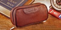 Goede kwaliteit bruin Pijp pakket, Lederen Draagtas, speciale tabak tas, pijp case.