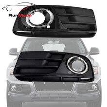 1 Par Para 2013 2014 Audi Q5 Front Lower Grille de Pulverización de Pintura Cromo Styling Left & Right Side