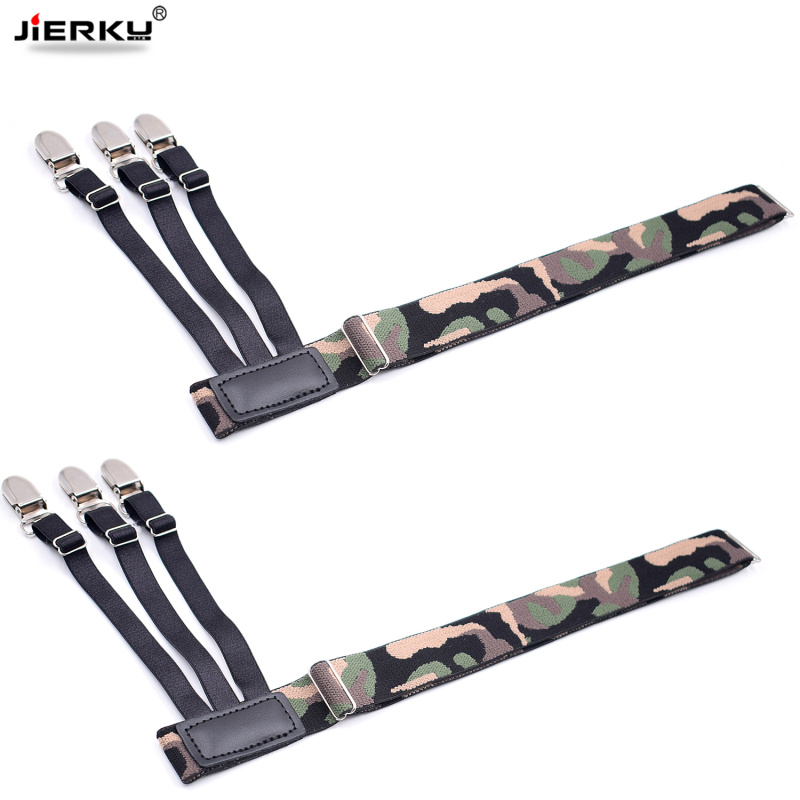 2663093dc Man s Leg Suspenders Camouflage Shirt Stays Holder Gourd Buckle ...