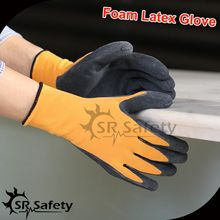 SRSafety 1 PAIRS OF Nylon LATEX RUBBER WORK GLOVES GARDENING SAFETY GRIP Glove