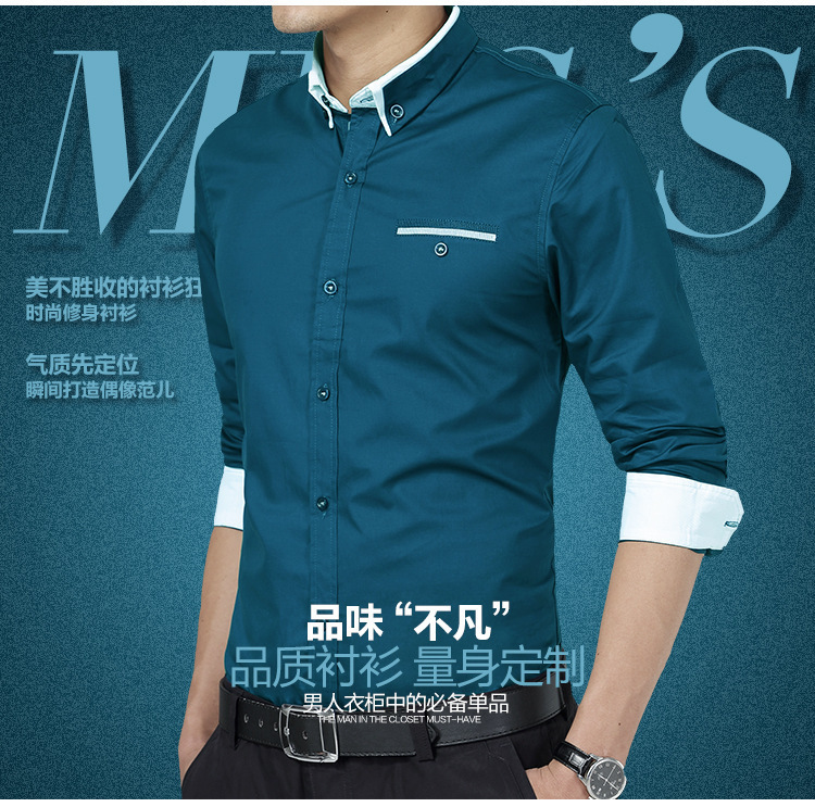 New 2015 casual fashion italian mens dress shirts men for Italian style dress shirts