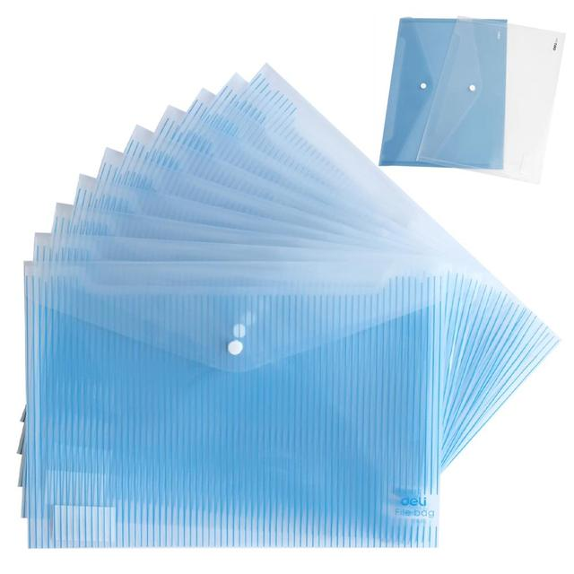 10PCS/L A4 A5 Plastic File Folder Portable Document Folder with Snap Button File and Paper Organizer Office and School Supplies