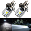 H4 Led Motorcycle Headlight Bulbs COB Led 6-80V 1000LM H/L Lamp Scooter ATV Moto Accessories Fog Lights 6000K Xenon White
