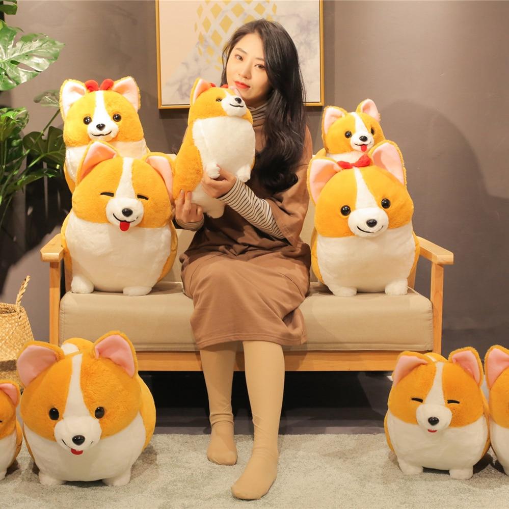 Cartoon Birthday Fat Cokey Toys Daisy Winnie Body Stuffed Animal Dog Children Plush Dolls Baby Gift Kids Kawaii Present 2