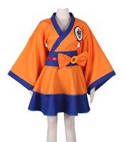 Anime Femme DRAGON BALL Z Cosplay Costume Robe Jupe Kimono Princesse Parti Ménage Chaude