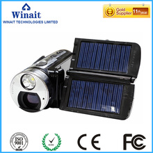 Winait 2017 cheap HDV-T99 digital video camera with 16X Digital Zoom Dual Solar Panel Charging Strong Torch Light Function