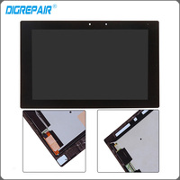 10 1 Inch Black For Sony Xperia Z2 Tablet LCD Display Touch Screen Digitizer With Bezel