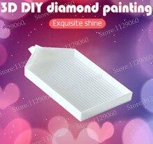 DIY 3D diamante Cruz herramientas para puntadas accesorios de bordado y diamantes gran capacidad diamante herramienta de pintura bandeja de plástico al por mayor