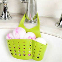 1pc Hanging Drain Basket Bath Storage Sink Shelves Soap Holder Kitchen Dish Cloth Sponge Hot