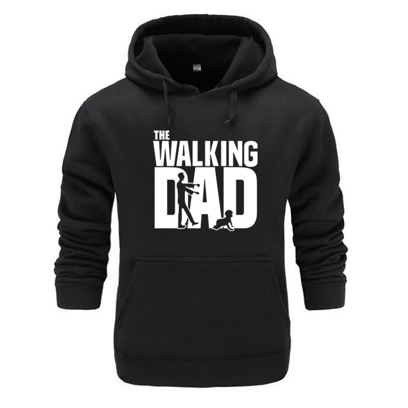 New 2019 Autumn Winter Sweatshirs Streetwear The Walking Dad Individuality Trend Hoodies Pure Cotton Printing Men/women Hoodies