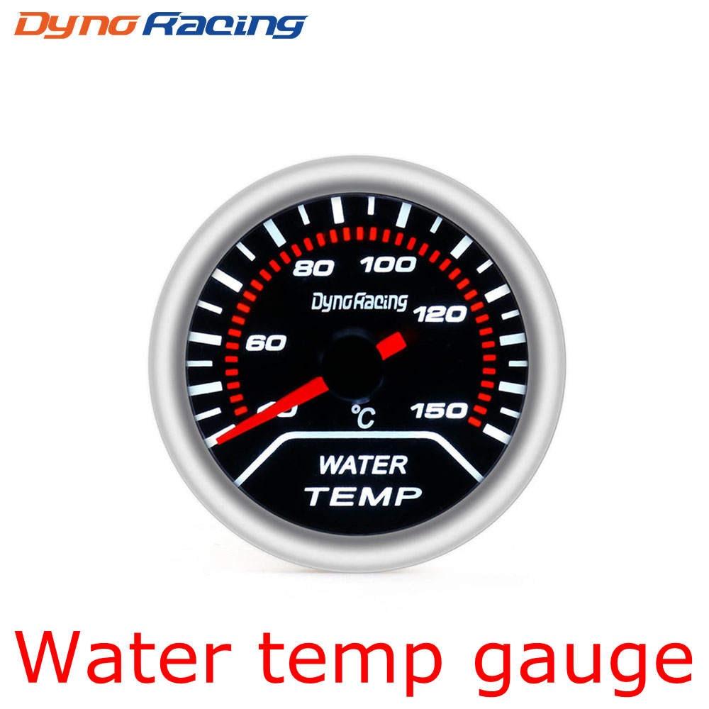 """Dynoracing """" 52 мм Автомобильный манометр бар psi температура выхлопных газов температура воды Температура масла пресс воздуха датчик топлива вольтметр Тахометр - Цвет: Water Temp Gauge"""