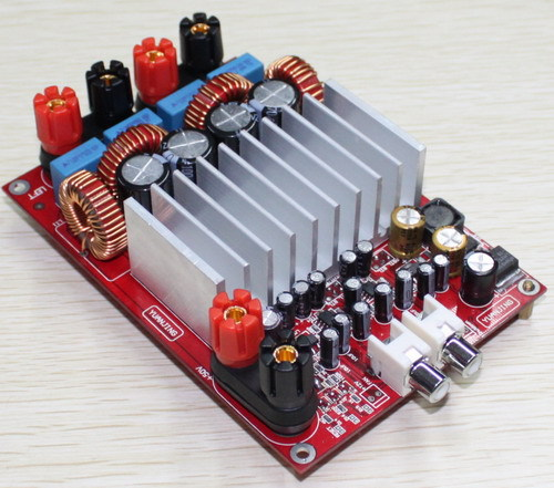 300W+300W TAS5630+OPA1632DR amplifier board 2.0 high power digital audio amplifier board with nichicon capacitance power audio 4channels amplifier blue board amplifier with 3300uf capacitors