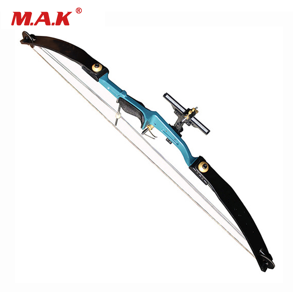 51 Lbs Compound Bow 45 Inches with Aluminum Handle and Glass Fiber Bow Limbs in Black/Blue for Archery Hunting Games 20 pounds m110 compound bow wih black camo color high strength aluminum handle and glass fiber bow limbs for children games