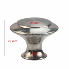 1pc Silver Stainless Steel Closet Cabinet Door Round Knob Drawer Pull Handle Tool Kitchen Tool