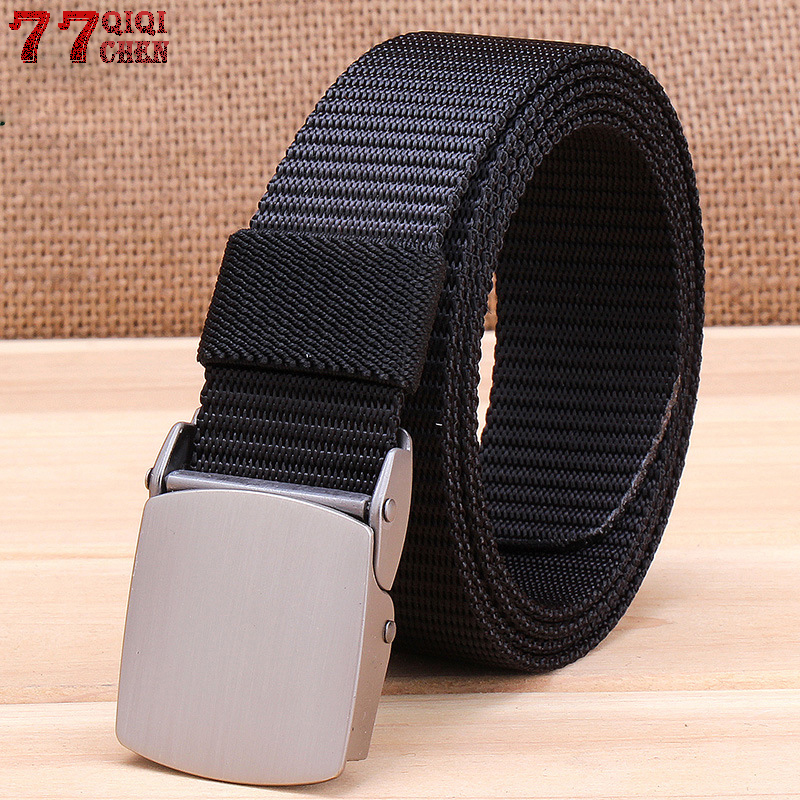 Military Tactical Nylon Belts Men Army Combat Heavy Duty Adjustable Belt Male Quick Dry Breathable Automatic Plastic Buckle Belt image