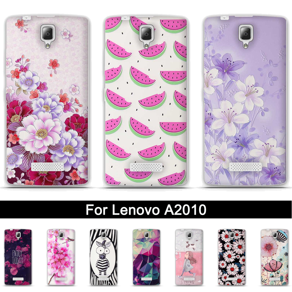 Protection Cover <font><b>Case</b></font> for <font><b>Lenovo</b></font> <font><b>A2010</b></font> Back TPU Soft <font><b>Case</b></font> Cover For <font><b>Lenovo</b></font> A 2010 Painting 3D Relief Cute Silicone <font><b>Phone</b></font> Shells image