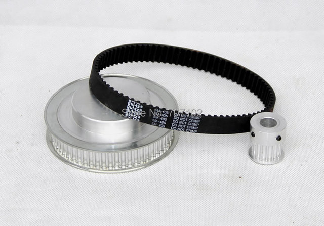 Máquina de grabado de piezas poleas de correa dentada correas dentadas cinturón kits de deceleración 5 M (4: 1)