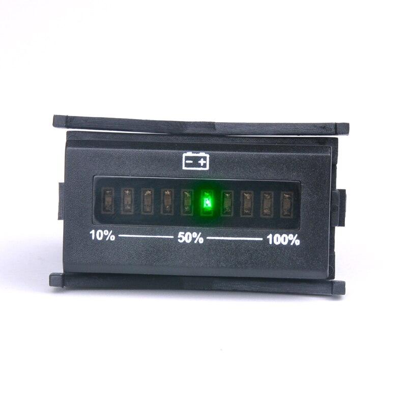 Free shipping LED Bar Graph Display Battery Indicator For motorcycle golf carts marine van vehicle