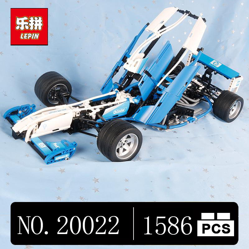 DHL Lepin 20022 1586Pcs Genuine Technic Series The Williams F1 Team Racer Set Lepin Building Blocks Bricks Toy Model lepin 20076 technic series the mack big