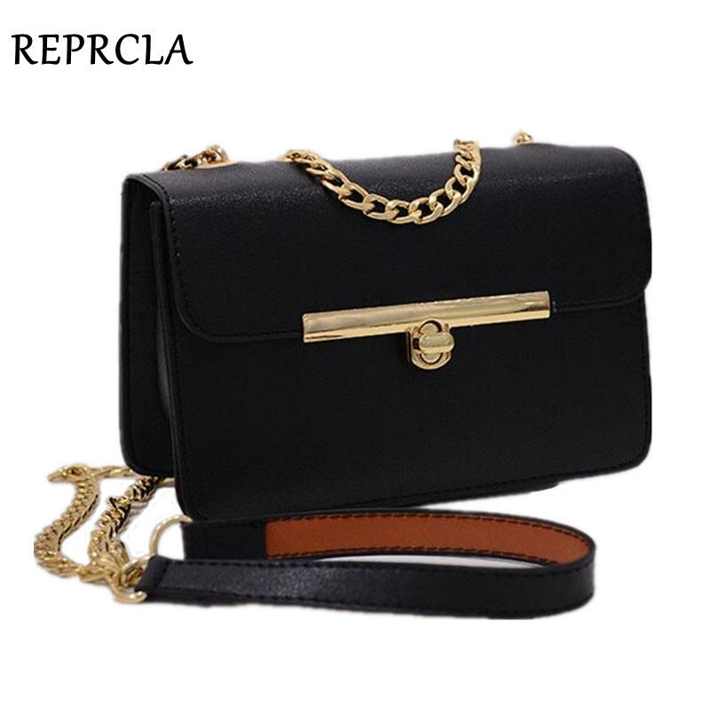 REPRCLA ახალი ჯაჭვის სამაჯური ქალის ჩანთა PU ტყავის ქალთა მესენჯერი ჩანთები Cross დიზაინერი ქალბატონების მხრის ჩანთა Bolsa Feminina LM83