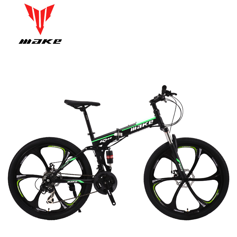 Make Steel Fouldable Frame, Mountain Bike 26 Alloy Wheel, 24 Speed SHIMANO MTB