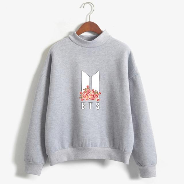 BTS (Bangtan Boys) Emblem Sweater With Flower Print