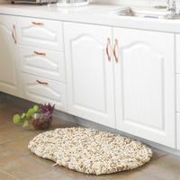 Non slip Footcloth Carpet Rug Doormat Polyester Floor Mat Soft Chenille Solid Shaggy Kitchen Hallway Living Room Bedroom 1 PCS
