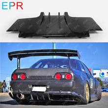 For Nissan Skyline GTR R32 Top Secret Type 2 Carbon Fiber  Rear Diffuser w/ Metal Fitting Accessories (5pcs) Tuning