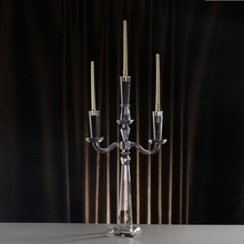 Morrocan Candle Holders Crystal Handmade 3 Arms Simple Convenient Demountable Home Table Centerpiece Decoration Candlestick