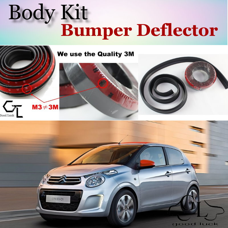 Bumper Lip Deflector Lips For Citroen C1 2005~2015 Front Spoiler Skirt For TG Friends to Car View Tuning / Body Kit / Strip|spoiler lip|lip bumper spoiler|front lip kit - title=