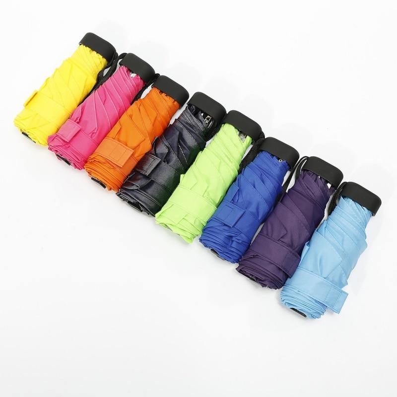 Multicolor Kapsel Mini Tasche Licht Regenschirm Clear Winddicht Faltung Regenschirm Regenschirme Frauen Männer Reise Kompakte Regen Regenschirm