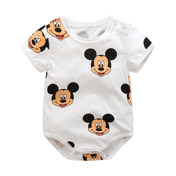 baby boys clothes 2019 Summer Cartoon Newborn baby rompers cotton Baby Girl Clothes jumpsuit 0-24M kids Clothing Set