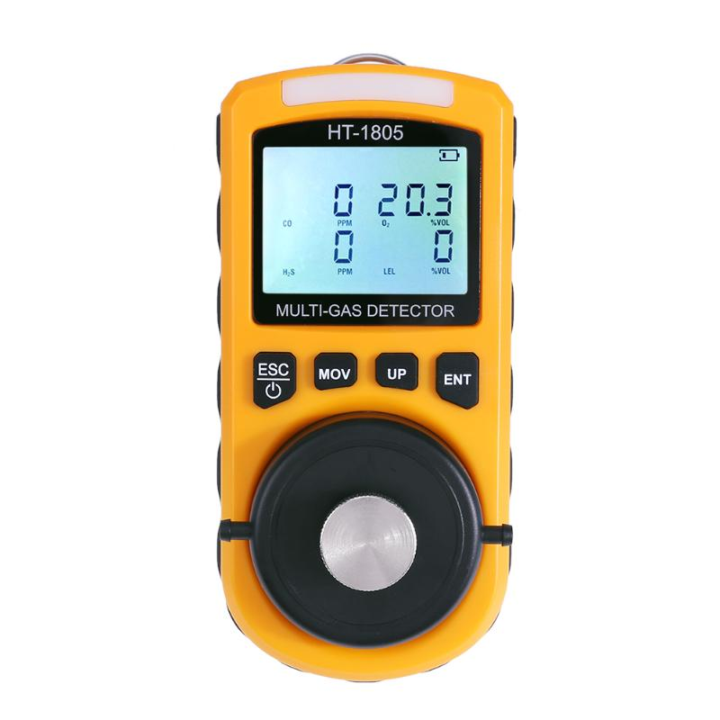 Handheld 4 in 1 Portable LCD Display Digital Gas Tester Detector Oxygen LEL CO H2S Gas Density Multi Monitor uyigao ua6070b handheld automotive oxygen meter high precision o2 gas tester monitor detector with lcd display sound light alarm
