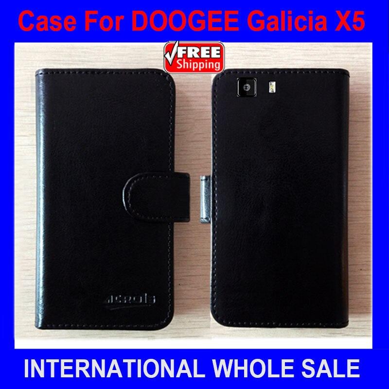 Horký! 2016 Pouzdro DOOGEE X5 Vysoce kvalitní nový styl Kožené pouzdro pro pouzdro DOOGEE Galicia X5 se 2 brašnami na karty Držení peněženky