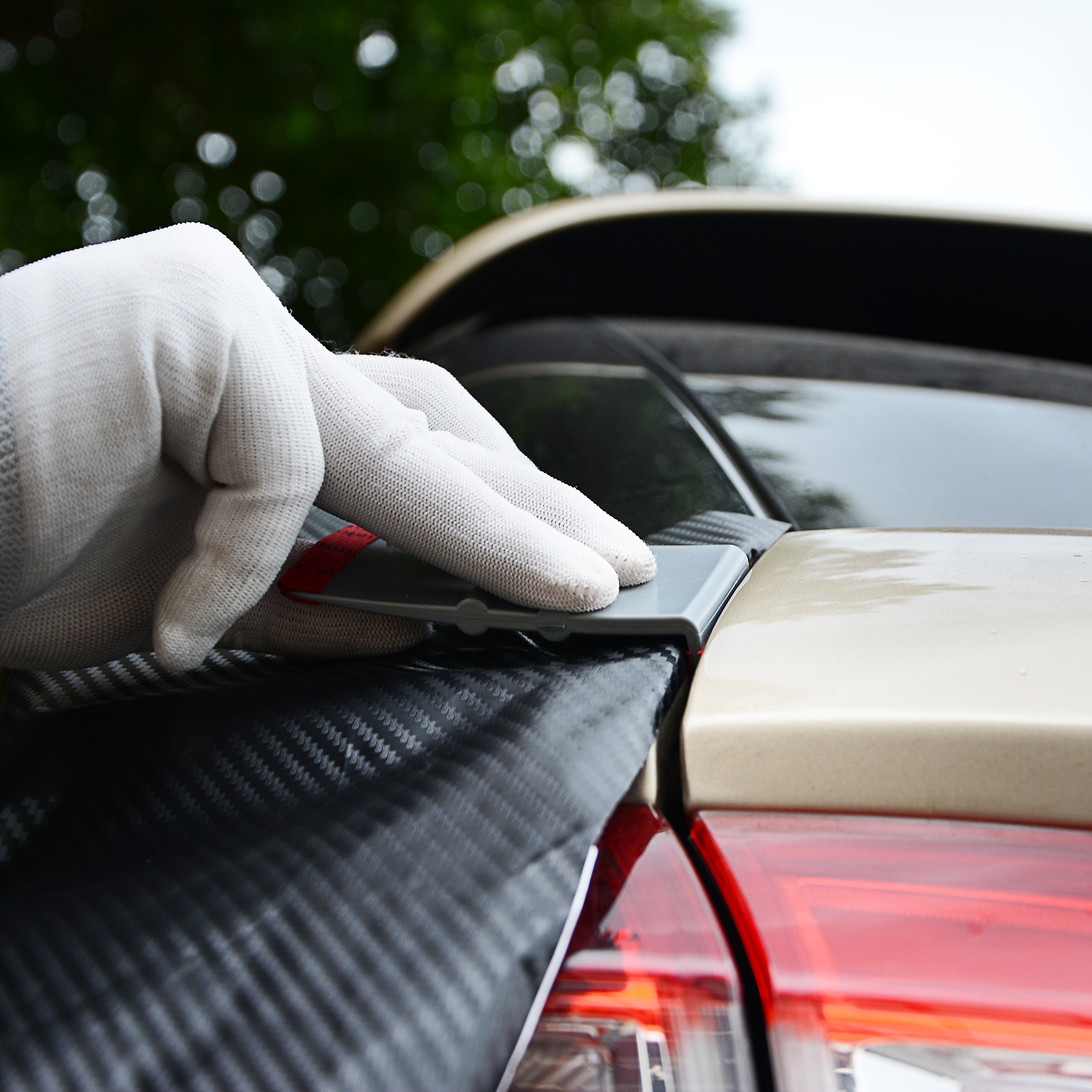 Image 4 - FOSHIO 90 Degree Vinyl Car Wrap Microfiber Squeegee Edge Scraper Carbon Fiber Film Stickers Wrapping Tool Auto Window Tint Tools