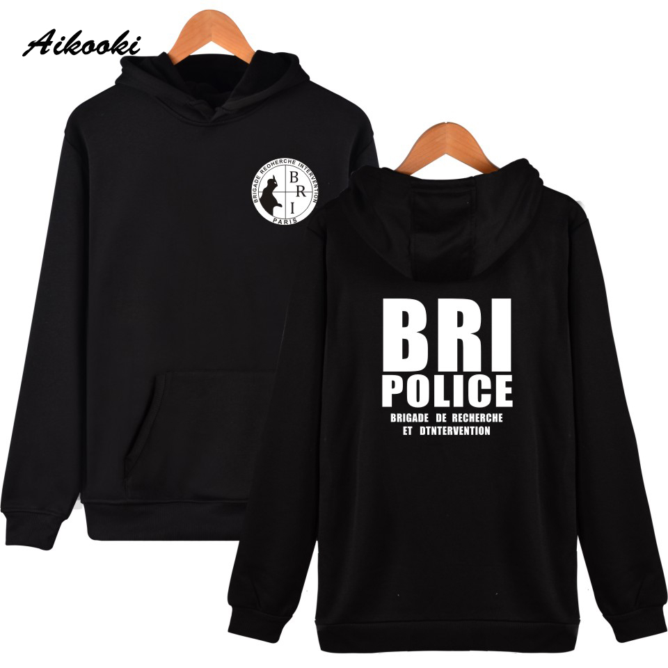 Aikooki New BRI Police GIGN Gendarmerie Men Hoodies Popular Hip-hop Kpop Men Hooded Sweatshirt Leisure Female Wenter Cap Clothes
