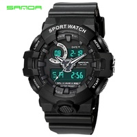 SANDA Chronograph Sports Watches Men Analog Quartz Digital Watch Military Waterproof Wristwatches Clock Male Relogio Masculino