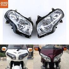 Для ввиде горшка 01-06 Honda Goldwing GL1800 передние фары для мотоцикла головной свет лампы фары 2001 2002 2003 2004 2005 2006