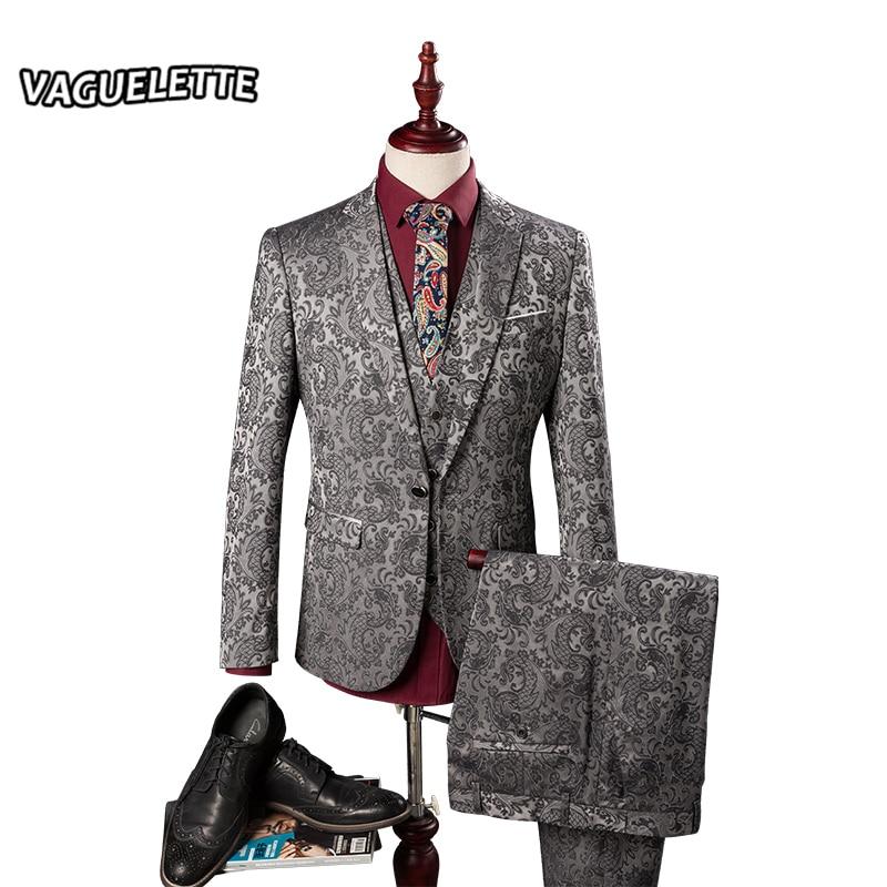 blazer pants vest herren anzug hochzeit vines floral. Black Bedroom Furniture Sets. Home Design Ideas