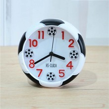 Soccer Table Decorative Football Ball Shaped Desk Clock For Outdoor Camping Desktop Bedsides Bedroom Birthday Soccer Fans Gift cheap Alarm Clock Watch Category FGHGF The living room the office the study the bathroom the bedroom Pointer + number AA Dry Battery