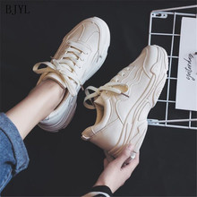 BJYL 2019 Comfortable New Women Sneakers Summer Mujer Breathable Casual Ladies Flat Shoes Chaussures Femme Tenis Feminino B21