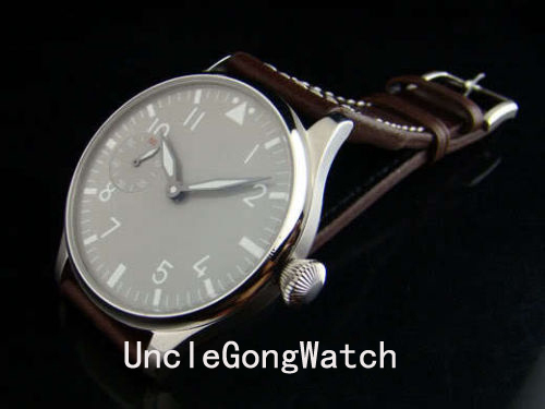 44mm Gray Dial Special@9 hand winding 6497 Men's Watch Fashion Casual Leather Strap WA4401SBW