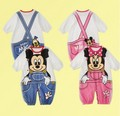 Fall summer spring cartoon cotton lovely Minnie baby girl infant children romper jumpsuit clothes