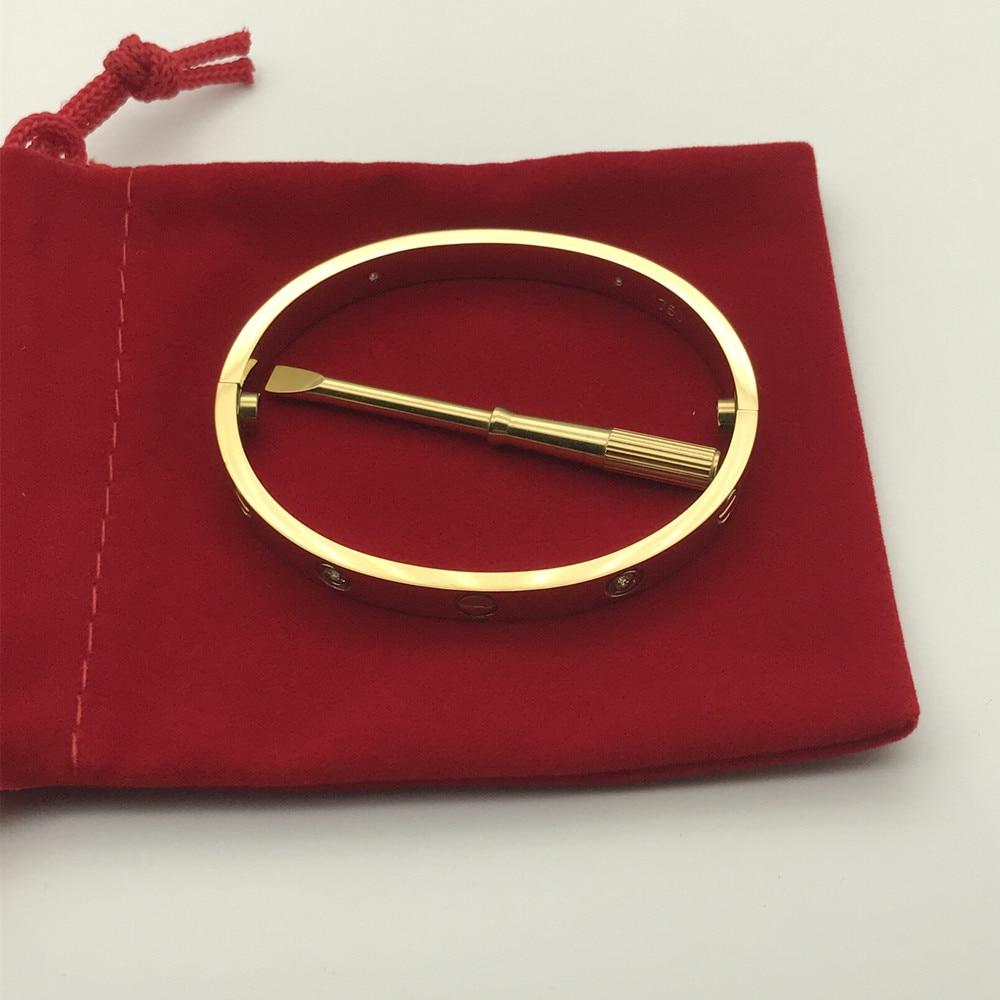 316L Stainless Steel Logo Carter love bracelet Screwdriver Bracelet Women Men cuff Bangle Pulseira Feminina Masculina