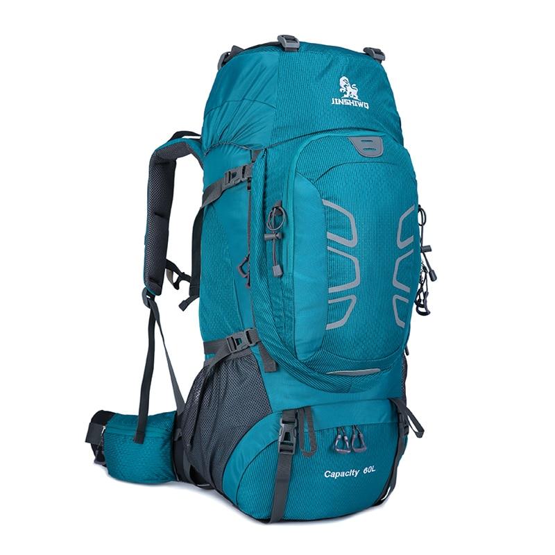 60L escalada impermeable senderismo mochila al aire libre de las mujeres y los hombres bolso Camping montañismo mochila bicicleta deporte bolsas de viaje