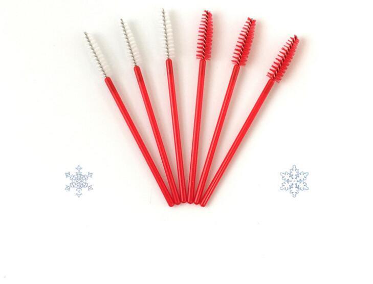 50pcs make up brush synthetic fiber Disposable Eyelash Brush Mascara Applicator Wand Brush Cosmetic Makeup Tool Pink