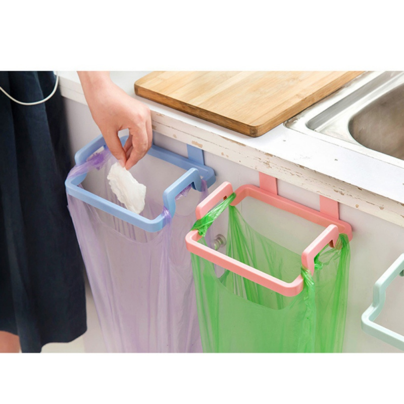 1 Piece Kitchen Hooks Practical Convenient For Towels And Garbage Bag Edge Clip Frame Kitchen Rubbish Bag Holders Kitchenwear