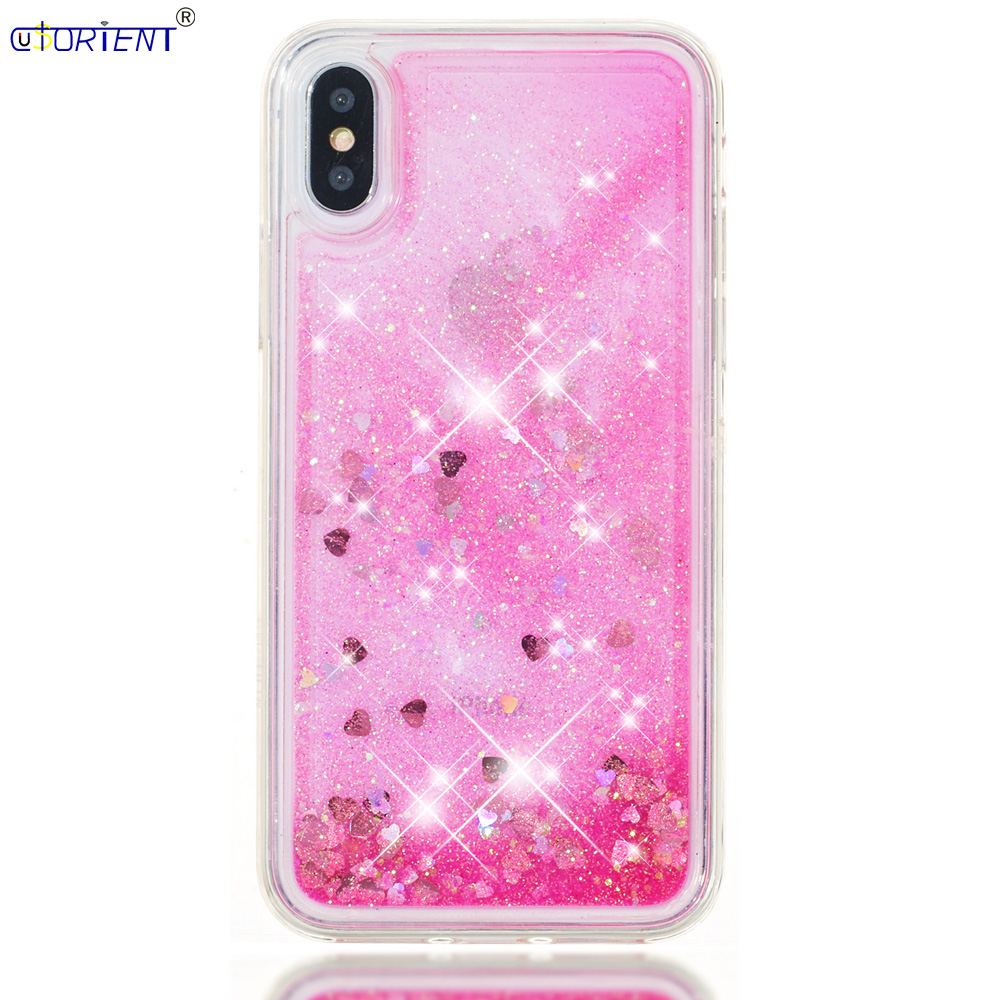 Phone Bags & Cases Spirited Cusorient Phone Funda For Apple Iphone X 10 Dynamic Liquid Quicksand Fitted Case Iphonex Applex Soft Silicone Tpu Bumper Cover Possessing Chinese Flavors Half-wrapped Case